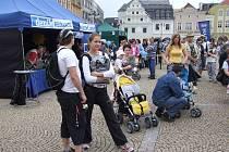 Malí i velcí se zúčastnili Dne s Deníkem na bruntálském náměstí Míru. Akci přálo také počasí.