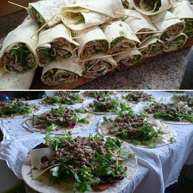 Tortilly sbiohovězím zfarmy Ch-angus je ideální téma kochutnávání ikpovídání. Foto: Bylinkový ranč Majoránek