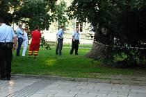 Poklidný nedělní večer přerušil v Krnově nález mrtvého těla v parku mezi Gymnáziem Krnov a zdravotnickým zařízením na náměstí Hrdinů.