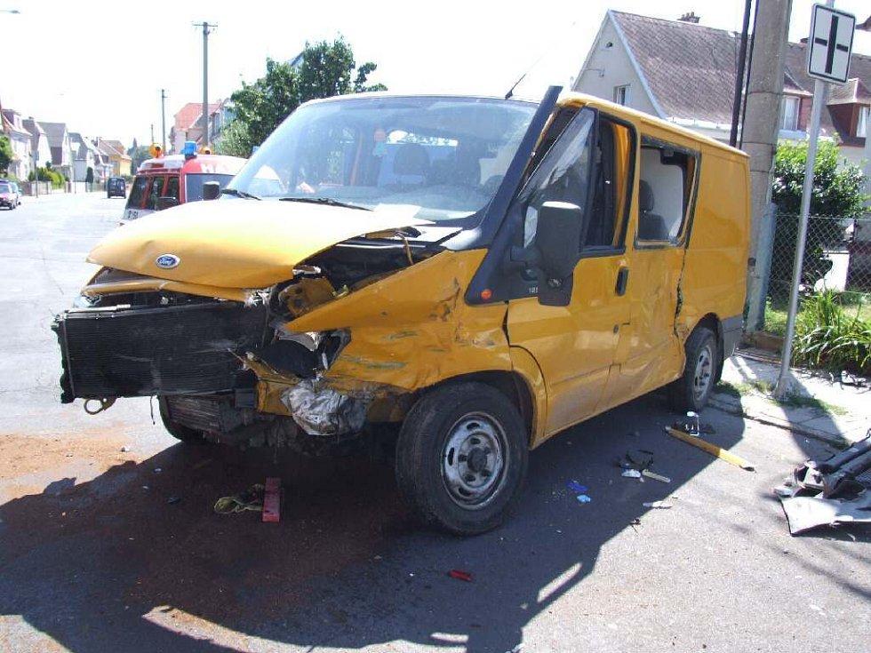 Nehoda na ulici Gorkého.