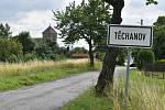 Těchanov: kostel sv. Šimona a Judy