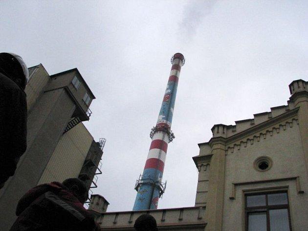 Nejvyšší komín v Krnově se nachází v areálu tepláren Dalkia.