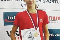 Kristýna Václavíková si na Vyškovském Hrošíku vyplavala zlatou a stříbrnou madaili.