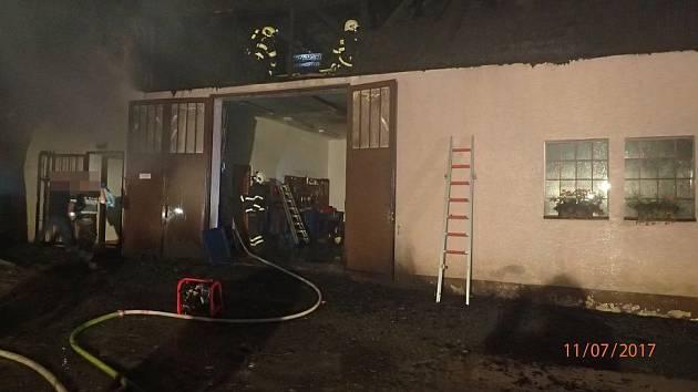 Pět jednotek hasičů bylo v úterý večer povoláno k ohlášenému požáru hospodářské budovy v Břidličné.