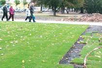 Park ve Smetanových sadech v Krnově se v současné době může pyšnit zcela netradiční podívanou.