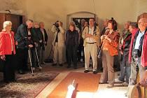 Němečtí hosté byli návštěvou kostela sv. Benedikta nadšení, nejvíce je zaujaly fresky ze 13. století, které mohli zhlédnout v sakristii.