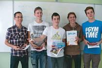 Vítězný tým Ethanol krnovského oblastního kola z krnovského Gymnázia.