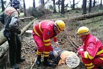 Zdravotnická záchranná služba zasahovala ve středu 20. dubna u vážného úrazu v terénu poblíž Dětřichova nad Bystřicí.