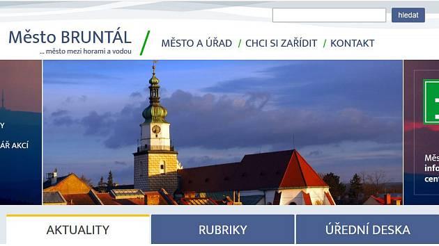 Úvodní webová stránka webu.
