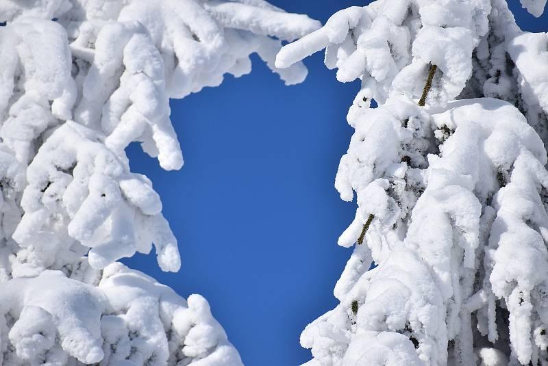 Praděd v zimě na archivním snímku.