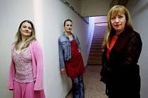 Monology vagíny nastudovaly herečky (zprava) Dáša Bláhová, Anna Polívková a Michaela Sajlerová.