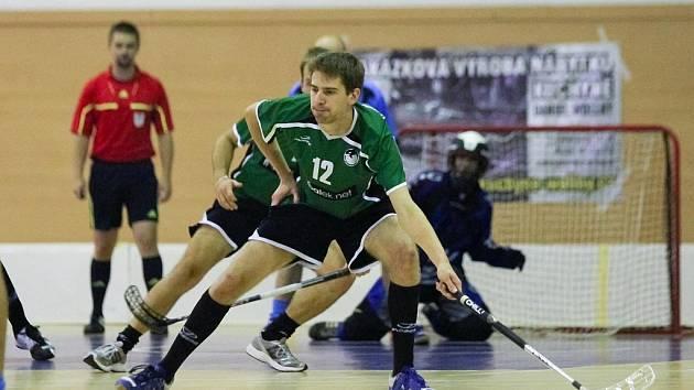 Krnovský střelec Daniel Hrbolka skóroval v obou ligových duelech. Konto ostravského MVILu zatížil dokonce hned pěti trefami.