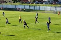 Fotbalisté Rýmařova porazili Bohumín 3:2 (7. 8. 2021).