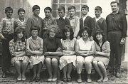 Žáci základní školy v Krnově, rok 1964 - 1965.