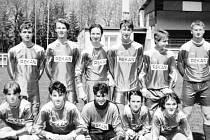 Dorostenci Slavoje Bruntál. Nadějný dorostenecký tým Slavoje v devadesátých letech minulého století.