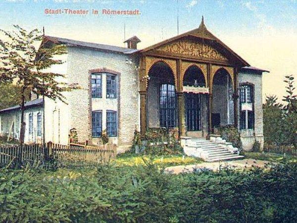 Historická podoba někdejšího rýmařovského divadla.