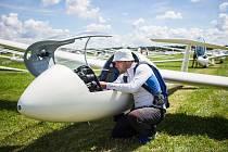 Ondřej Bordovský, Mistr České republiky pro rok 2020 v bezmotorovém létání v kategorii Club. Snímky: Aeroklub Krnov