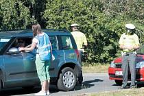 Preventivně dopravní akce se ve středu 24. července v Bruntále zúčastnili tři bruntálští policisté a zástupkyně Českého svazu pivovarů a sladoven.