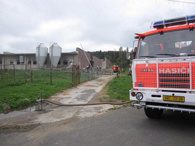 Požár drůběžárny