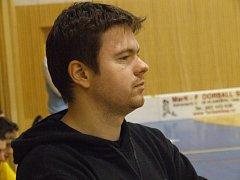 Trenér krnovských florbalistů Tomáš Hradil.