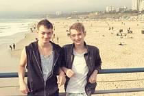 Bratři Štěpán (vlevo) a Matěj si v Americe užívali také krásné počasí a klid.
