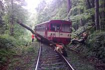 Nehoda vlaku na Bruntálsku.