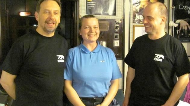 Pavel Tomešek (vlevo) a jeho kolegové kinaři zvládli další ročník festivalu Krrr! na výbornou.
