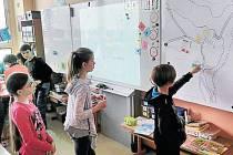 Na tvorbě pocitové mapy Bruntálu spolupracovaly i děti.