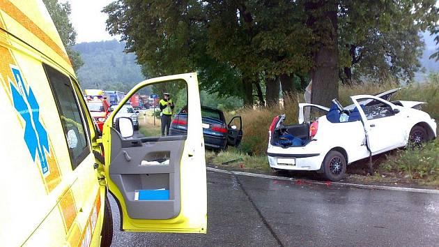 Tři posádky záchranné služby a další sanitka privátní dopravní služby musely v pátek odpoledne zasahovat u dopravní nehody, která se stala u obce Vysoká na Bruntálsku.