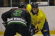 Hokejové okresní derby mezi Krnovem a Horním Benešovem. Domácí svěřenci kouče Plánovského vyhráli 5:3.