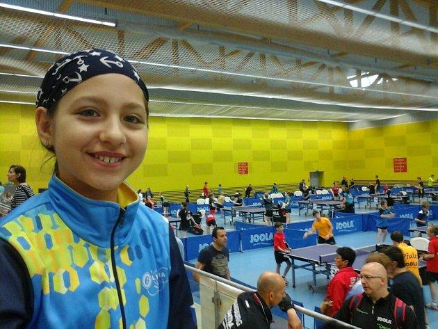 Veronika Mazalová stolní tenis Olympia Bruntál