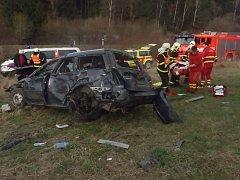 Nehoda u obce Nové Heřminovy