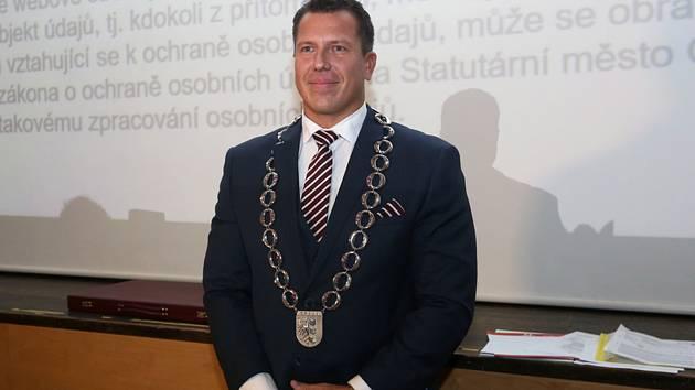 Tomáš Navrátil - Primátor Opavy Tomáše Navrátil z hnutí ANO na snímku z 5. listopadu 2018.