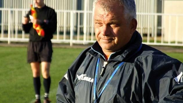 Krnovský trenér Antonín Hudský.
