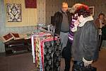 Výstava v budově textilního podniku Hedva Brokát