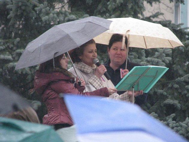 Iniciativa Holešovská výzva se v neděli představila také na krnovském náměstí. Její požadavky na odstoupení vlády, abdikaci prezidenta, zastavení církevních restitucí i penzijní, sociální, zdravotnické a školské reformy veřejnost přednesla krnovská psycho