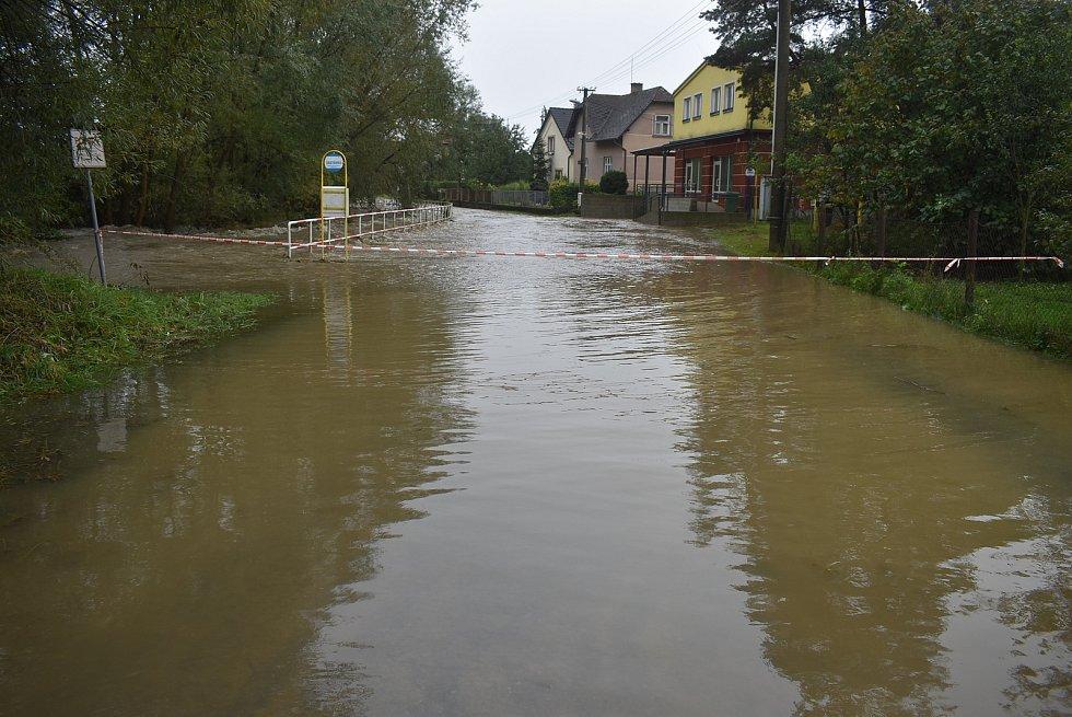 V Opavici se rozlila řeka na stejném místě jako při povodních v předchozích letech.