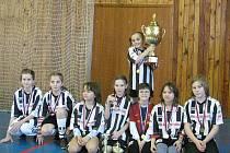 Výtečně si vedly malé fotbalistky Juventusu Bruntál na turnaji ve Sportovní hale v Bruntále, kde v silné konkurenci dokázaly zvítězit.