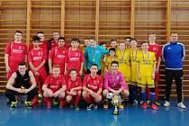 V sobotu uspořádal fotbalový klub Slavoj Olympia Bruntál v tělocvičně střední průmyslové školy halový turnaj v kopané starších žáků pod názvem Slavoj Olympia Cup.