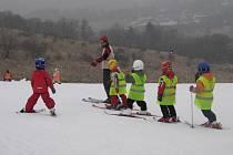 Malí lyžaři z Polska i České republiky se sešli na pět dní na sjezdovce u penzionu Šelenburk v Krnově. I přes první opatrné krůčky na lyžích a svahu si nakonec lyžování všechny děti patřičně užívaly.
