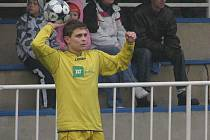 Krnovský fotbalista Lukáš Mitura.