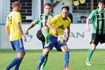 Jiskra udolala Havířov šesti brankami. Na snímku střelec prvního gólu domácích Pavel Ondruška.
