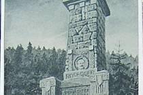 Nad krnovským nádražím se tyčí Bezručův vrch, kterému dominuje kamenný památník Mohyla Petra Bezruče. Původně ale nesl jméno jiného literáta – rakouského spisovatele Petera Roseggera.