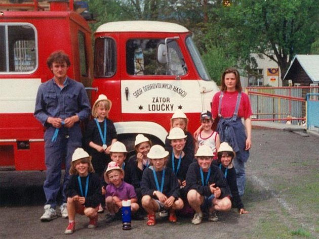 Dětské družstvo dobrovolných hasičů ze Zátora.