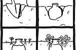 Olla je hliněný džbán zakopaný po hrdlo v záhonu. Přes jeho stěny se pomalu uvolňuje voda přímo ke kořenům rostlin.
