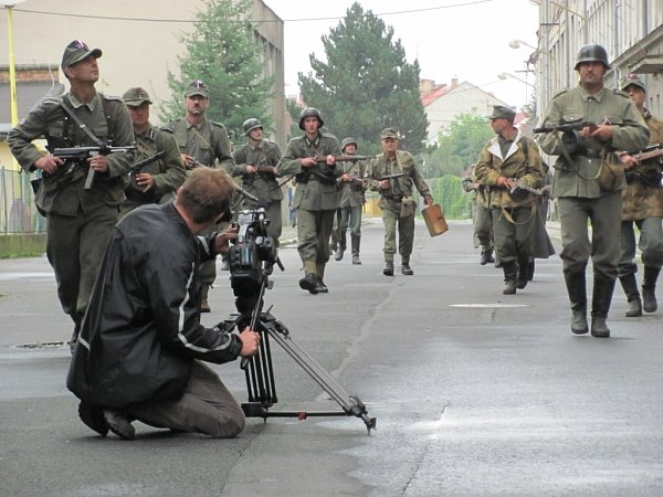 Natáčení filmu Vlasovci vKrnově.
