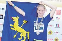 Stříbrnou medaili vybojovala Jana Hamplová, nejúspěšnější sportovkyně z rýmařovských žáků.