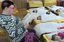 """Prozatím nejčerstvější akcí byla """"Pohádková babička"""", kdy babička Maruška četla dětem ve školce pohádku před spaním."""