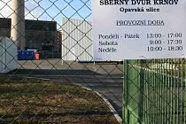 Nové sběrné dvory v Krnově byly dokončeny teprve nedávno, ale lidé se je rychle naučili využívat.