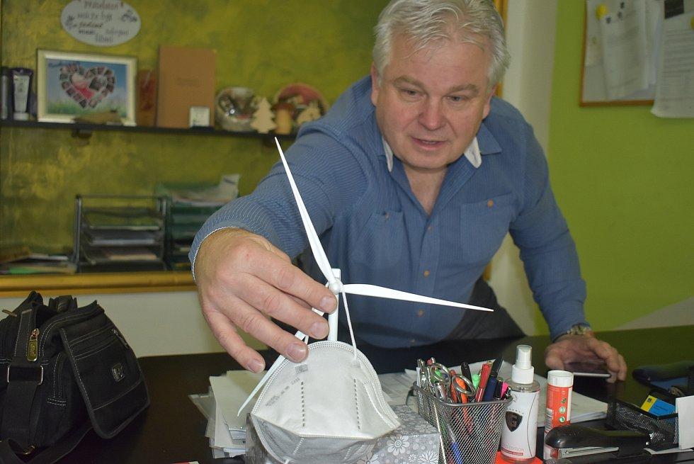 Starosta Hlinky Marcel Chovančák nemá obavy z projektů větrné energetiky.